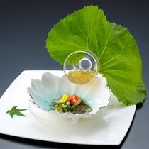 【夏の章月スタイリッシュ】タラバガニ&じゅんさい・ところてんの酢の物