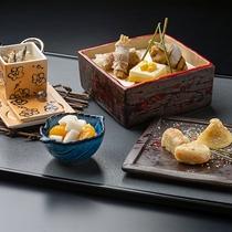 【冬の和食会席】章月スタイリッシュ~前菜/とうきび豆腐など