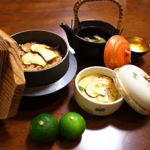 松茸料理三品※イメージ