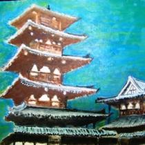 絵画 法隆寺