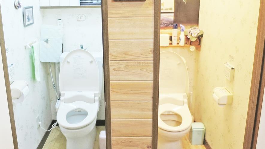 *共同トイレ/洗浄機能付きトイレがございます。