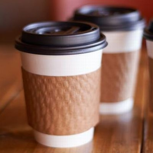朝食会場にてテイクアウトコーヒーサービス