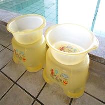 大浴場お子様用湯桶・バスチェアございます