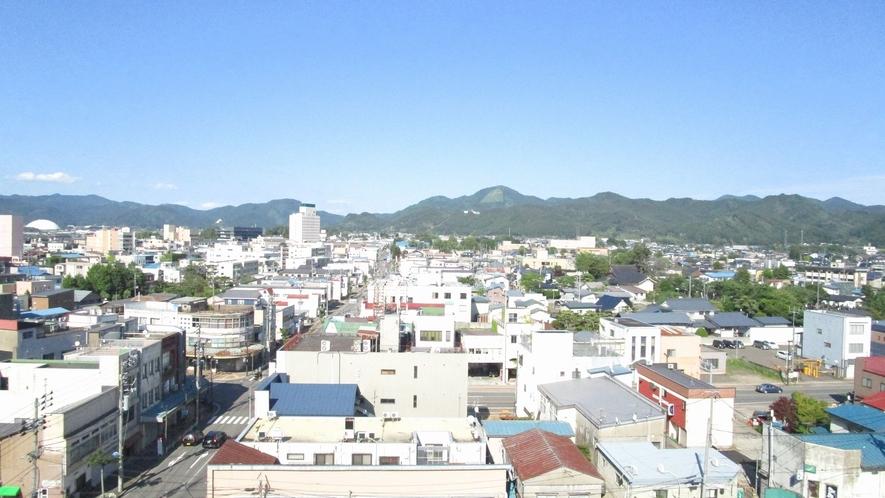 展望温泉からは市内の景色をご眺望頂けます