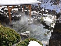 冬の渓流露天風呂2