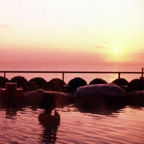 露天風呂から日の出