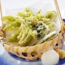 山菜天ぷら三種盛り