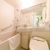 *<シングルA>客室用バスルーム