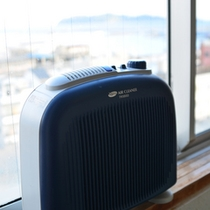 全室に空気清浄器を設置