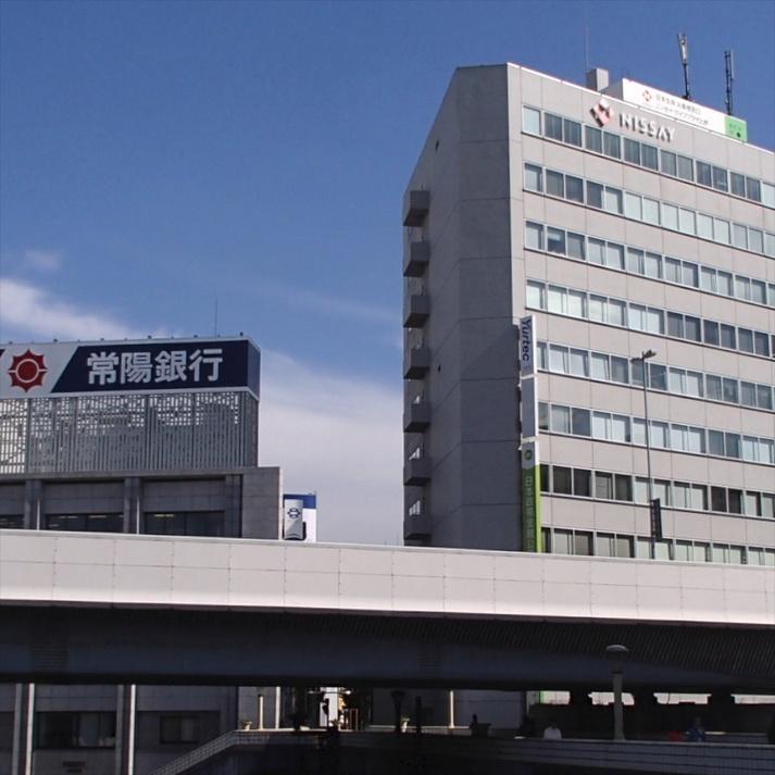 道案内☆青い看板の『常陽銀行』が目印