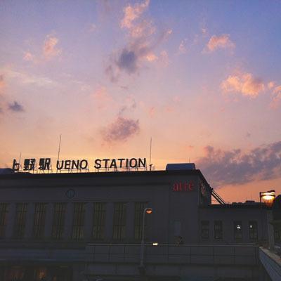 上野駅☆ 駅からホテルまで徒歩4分。上野は動物園・美術館・アメ横などなど、盛りだくさん★