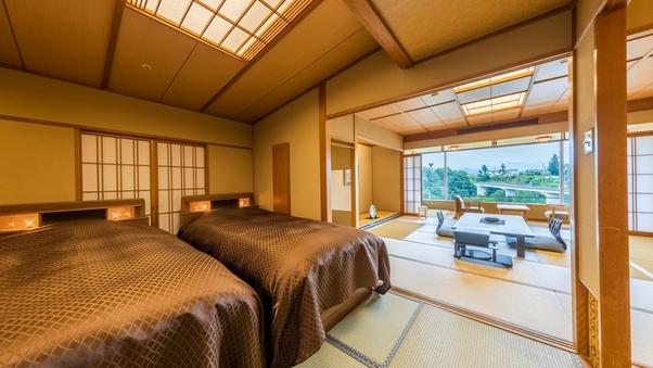 <禁煙>デラックス客室【ラクザン-楽山】12畳+ツインベッド