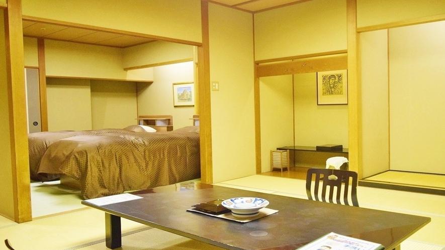 -ラクザン(楽山)-デラックスルーム2間和室12.5畳+ツインベッド