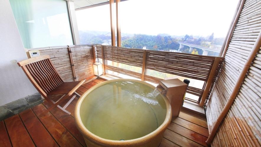 -ラクザン(楽山)-露天風呂付特別室 浴槽一例