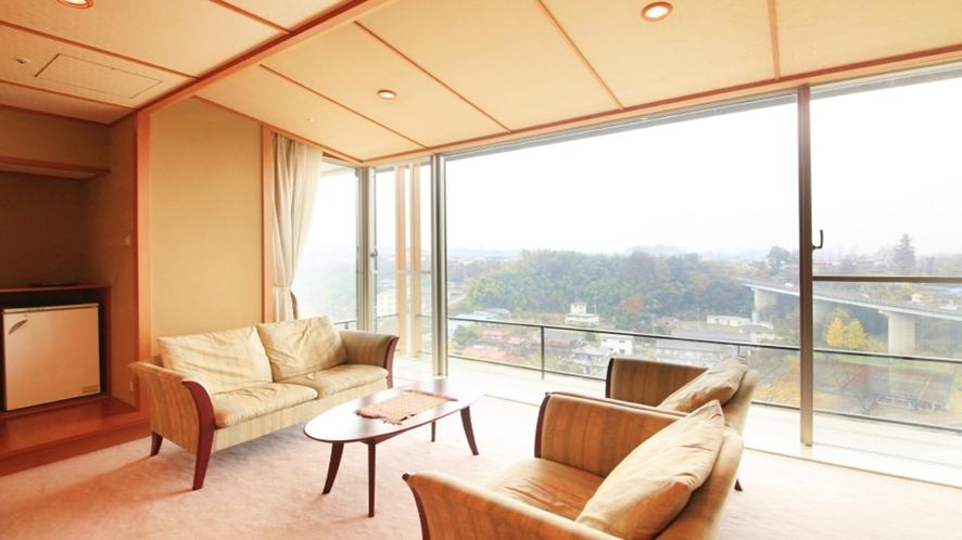 -ラクザン(楽山)-露天風呂付特別室 最上階特別室12.5+10畳ツインベッド+広縁
