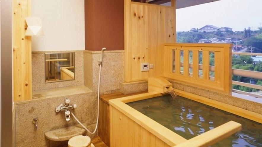 -ラクスイ(楽水)-露天風呂付き和室10畳浴槽一例