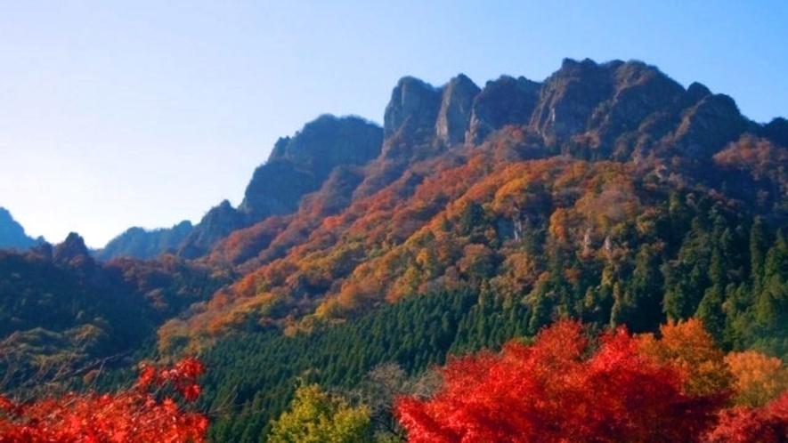 妙義山 春は新緑、秋は紅葉が綺麗です