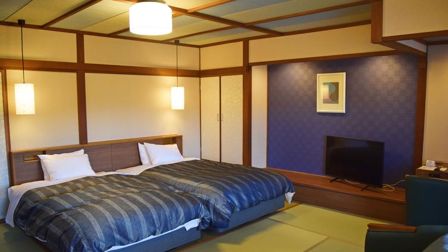 ラクスイ-laxsui-和客室ツインシモンズベッド