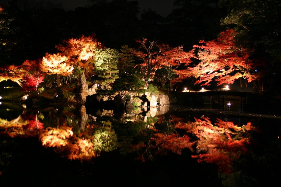 彦根城玄宮園ライトアップ