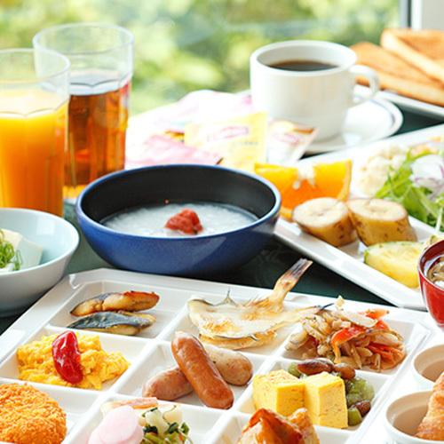 朝食バイキング.