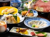 ふぐと近江牛すき鍋会席 料理イメージ写真