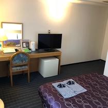 ダブルルームは20平米と広めのお部屋です。