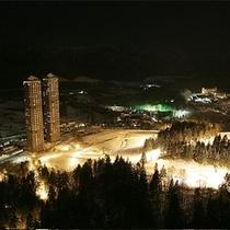 トマムリゾート全景(夜)