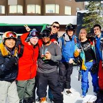 スキーのお客様
