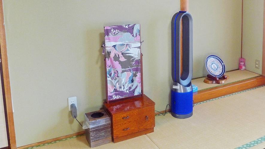 ・コロナ感染症対策でHEPAフイルターを採用した空気清浄機を設置(24 時間作動)