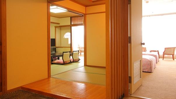 最上階8階・和洋室(和室10畳+ツイン)【禁煙】
