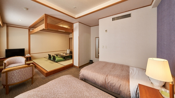 【本館/禁煙】和洋室/8畳+ツインベッド