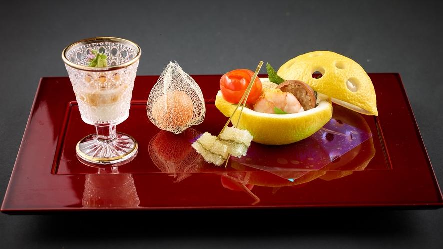 「特選和食会席膳」料理長特製 北海道の季節の前菜5種盛