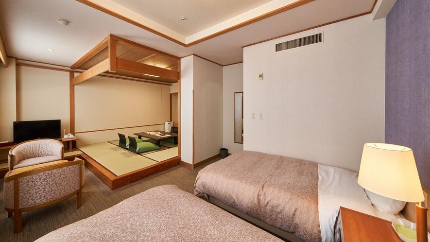 【本館禁煙和洋室 8畳+ツインベッド】