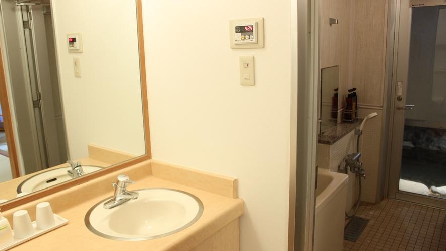 【露天風呂付末広亭 和室12.5畳】洗面・浴室