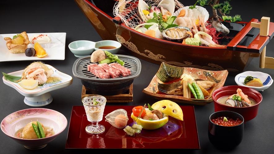 北海道・函館を食べ尽くす「特選和食会席膳」プラン(一例)