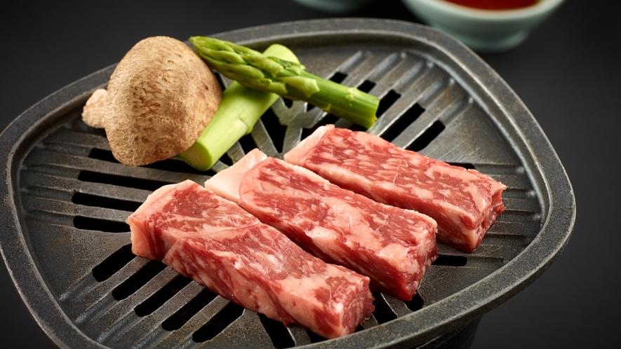 「特選和食会席膳」道産和牛の網焼き