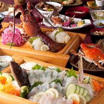 漁師の宴:当館で最高のおもてなしの天草グルメフルコースをご賞味下さい。