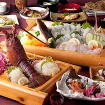 もぐりの技:天草獲れの新鮮『伊勢海老』を活造りで味わう当館人気コース