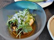 【夕食】豆腐サラダ