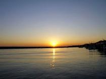 綺麗な夕日を見るなら、ぜひ当館へ!!