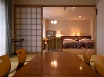 【和洋室】二間続きの広々としたスイートルーム。