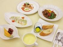 【夕食の一例】夕食ライトプランの創作洋食コース