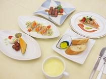 【夕食の一例】夕食スタンダードの創作洋食コース