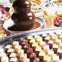 チョコレートファウンテンはお子様・女性に大人気♪