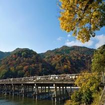 ■渡月橋 紅葉