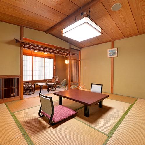 【和室/嵯峨野】装飾を排した数寄屋(茶室)風を取り入れた客室は質素。