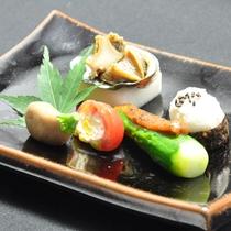 【7月の会席料理一例】(前菜)