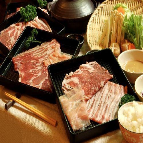 夕食【豚のしゃぶしゃぶ】一例