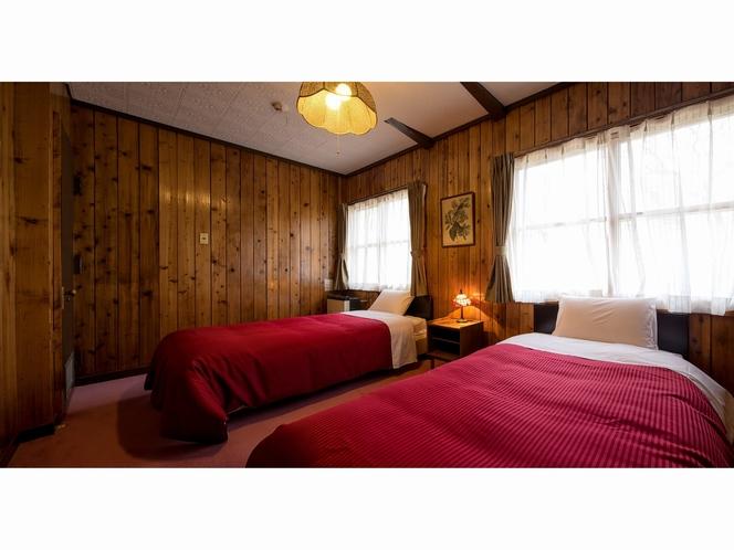 暖炉付コテージ寝室(一例)
