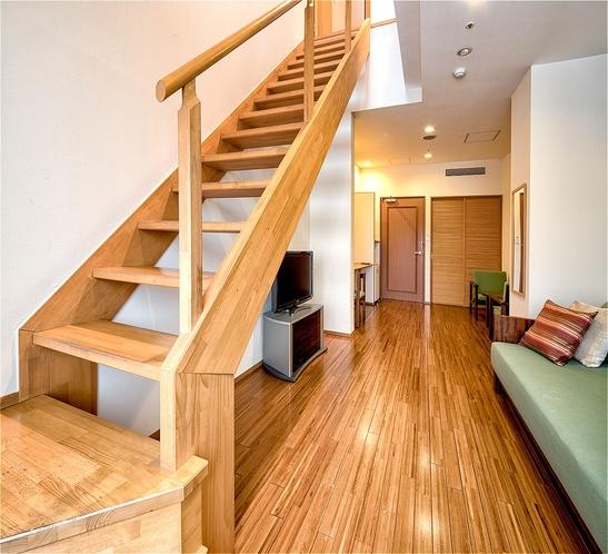新館メゾネット(一例)※内階段があり2Fに寝室、バストイレがございます。